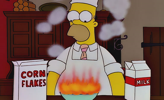 Simpsons Cereal Fire
